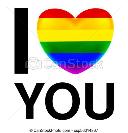 450x470 I Love You With Lgbt Flag Heart Clip Art Vector