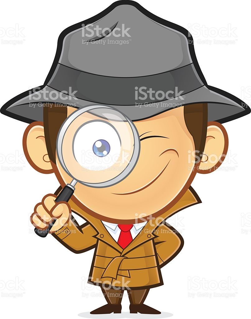 806x1024 Detective With Magnifying Glass Clipart Desktop Backgrounds