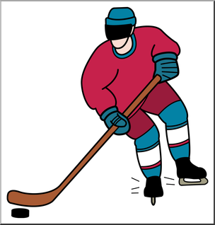 304x318 Clip Art Ice Hockey Color 2 I Abcteach