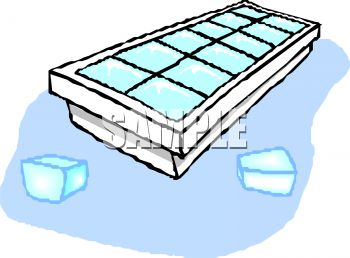 350x258 Ice Cube Tray With Ice Cubes