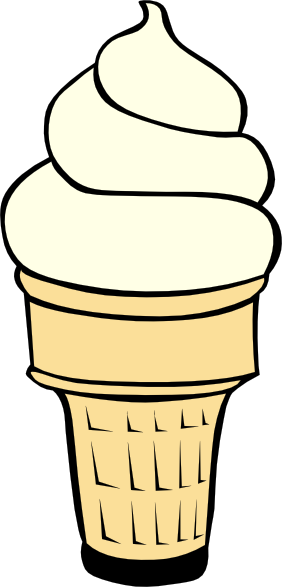 282x587 Vanilla Soft Serve Ice Cream Cone Clip Art Free Vector 4vector