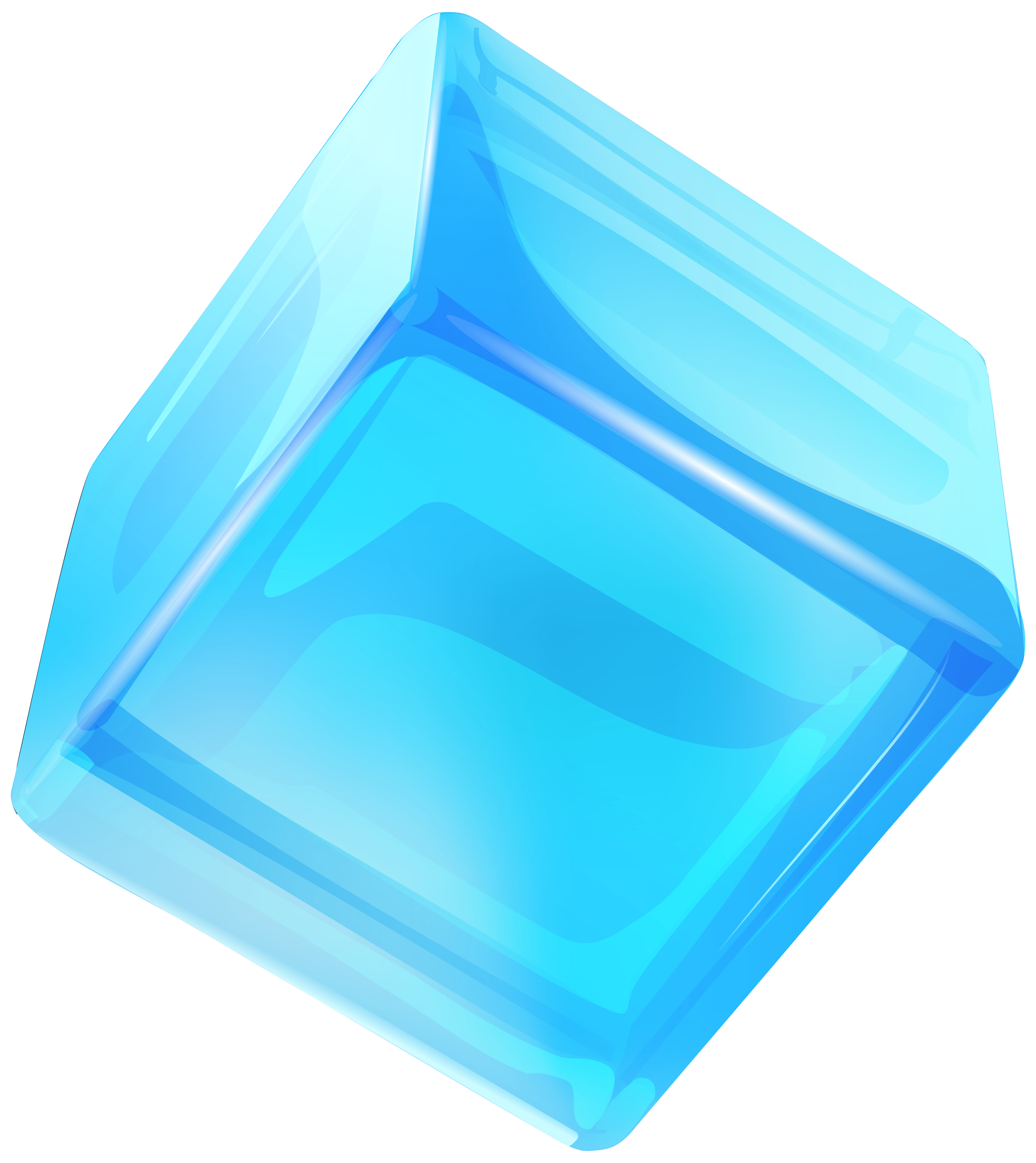 5581x6268 Blue Ice Cube Png Clip Art