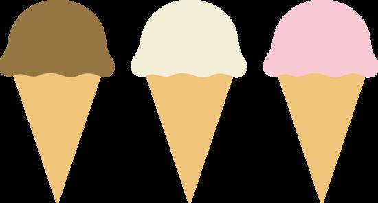 550x296 Three Ice Cream Cones