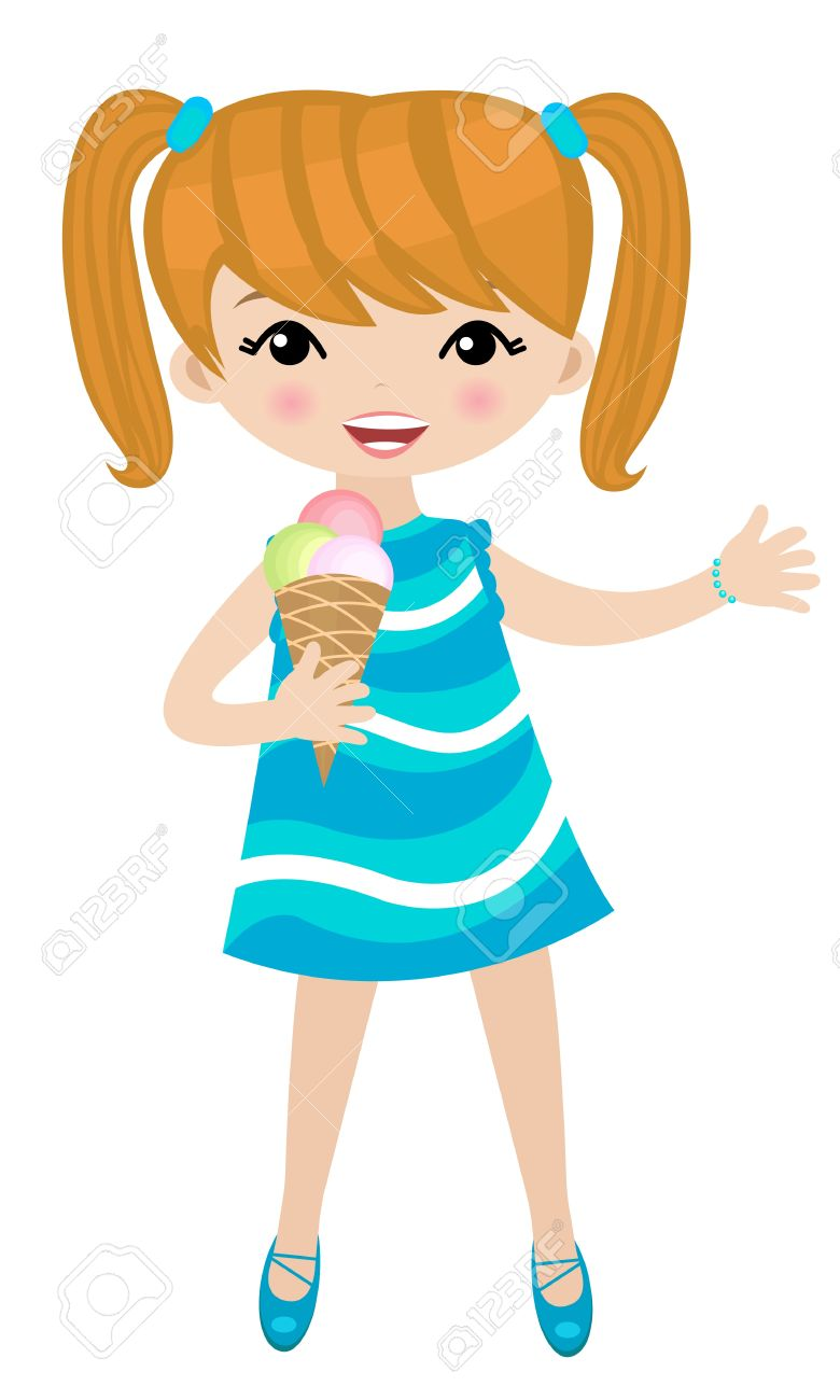 780x1300 Clipart Of Girl Eating Ice Cream Clip Art Image