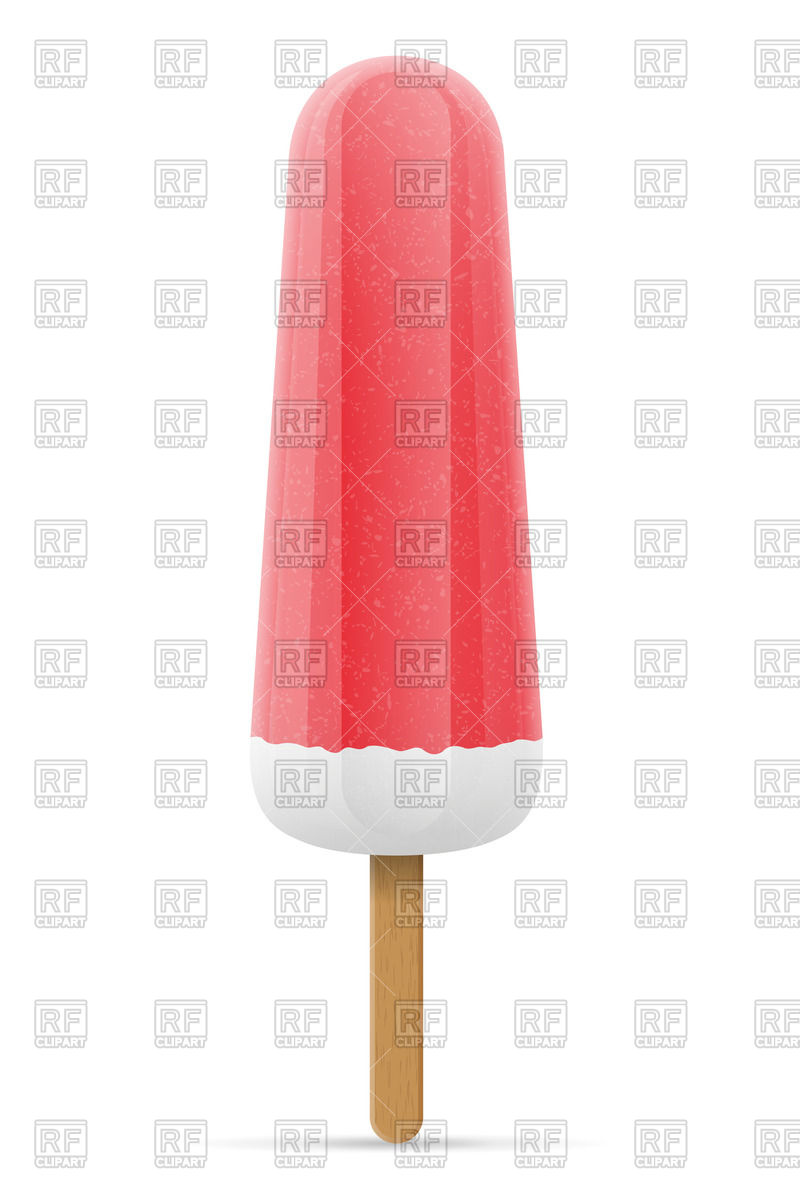 800x1200 Ice Cream On Stick Royalty Free Vector Clip Art Image