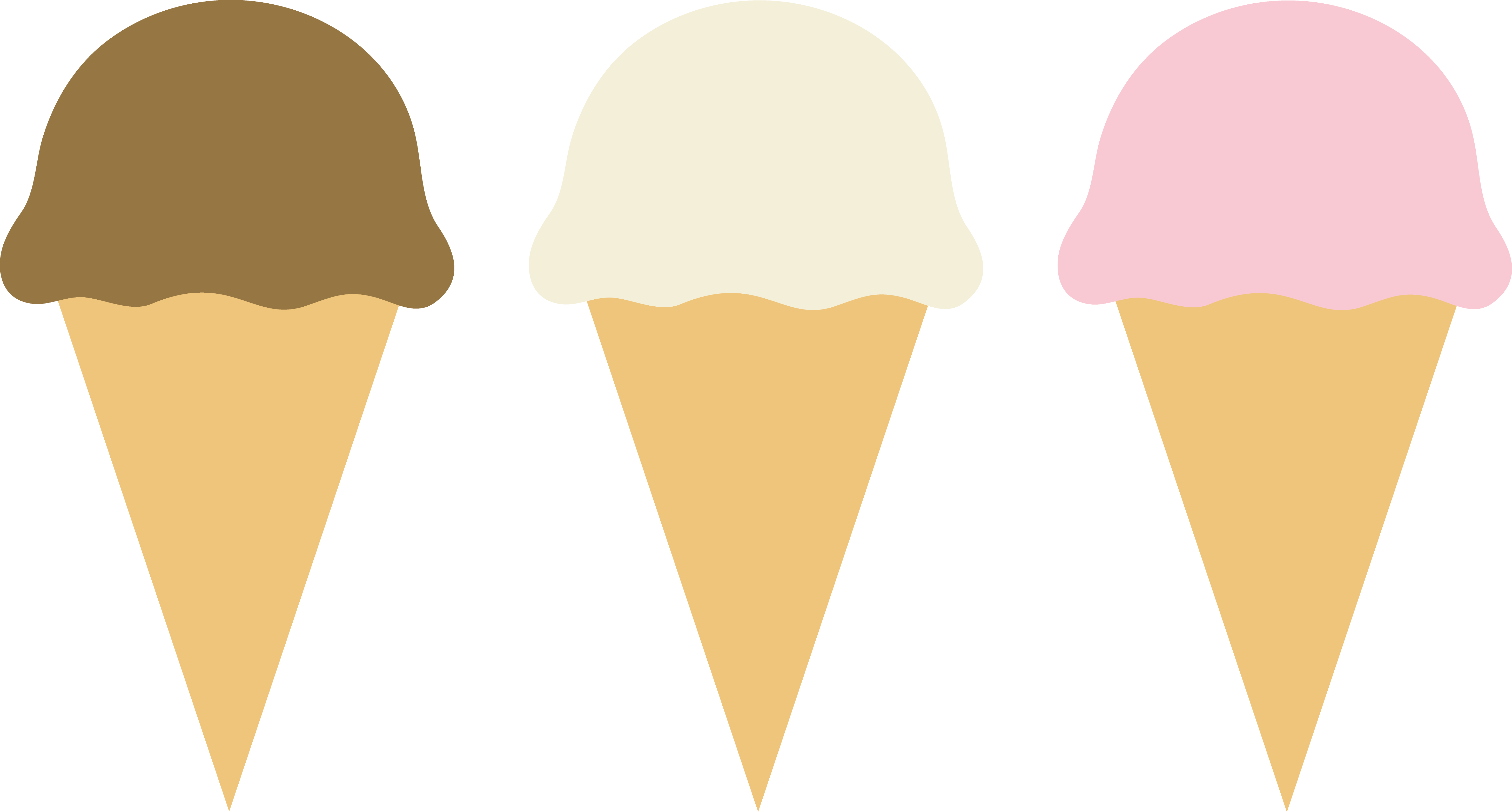 5823x3130 Three Ice Cream Cones