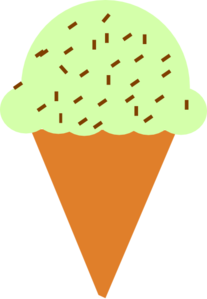 207x299 Ice Cream Cone With Sprinkles Clip Art