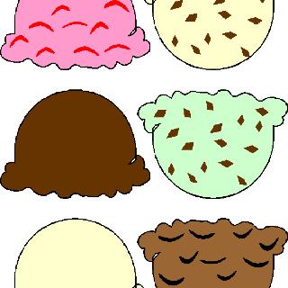 320x320 Scoop Of Ice Cream Clipart