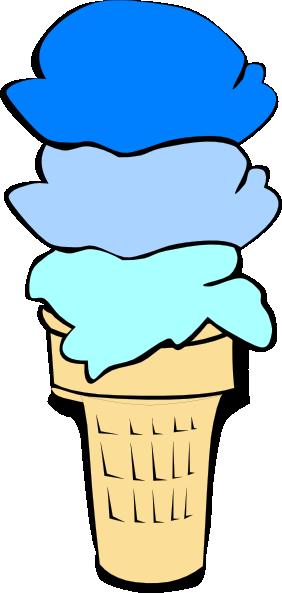 282x593 Ice Cream Scoop Clipart Ice Cream Cone Blue Scoops Clip Art