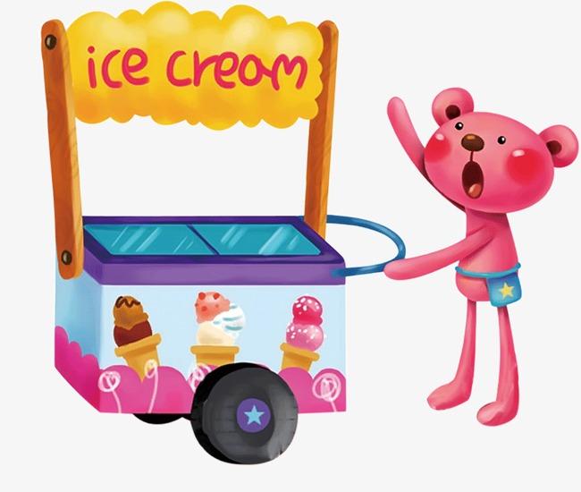 650x550 Bear Ice Cream, Ice Cream Truck, Cartoon Bear, Cartoon Png Image