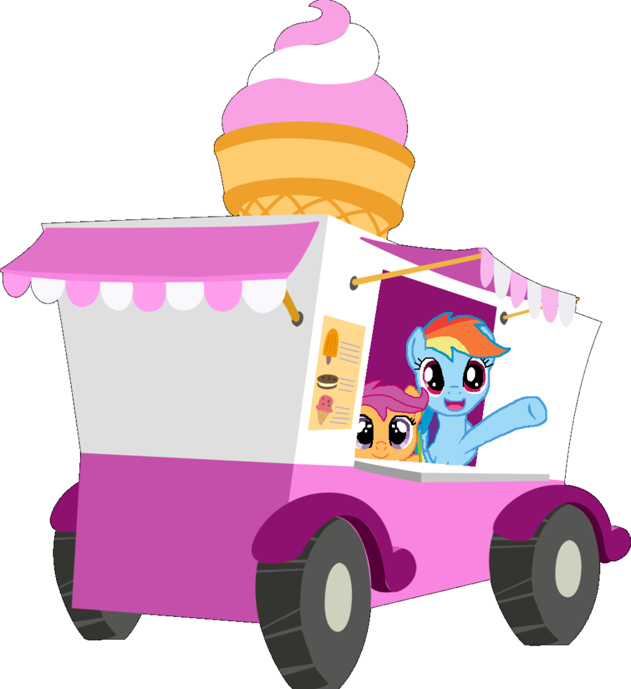 900x983 Rainbow Dash And Scootaloo Ice Cream Cart Owners By