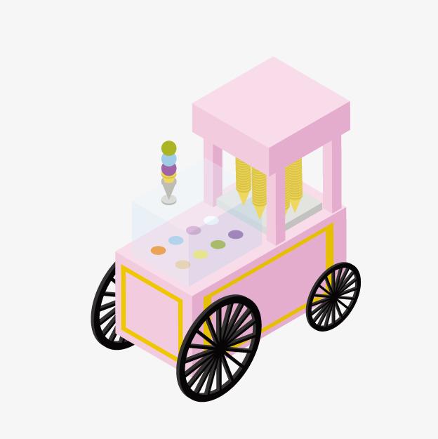624x625 Cartoon Ice Cream Truck, Cartoon Amusement Park, Park Facilities