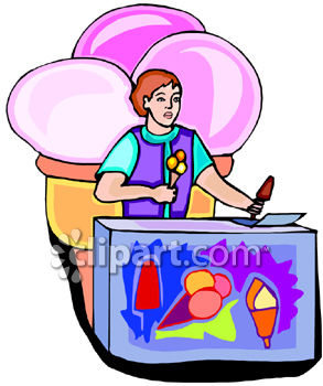 293x350 Kid Selling Ice Cream Vendor