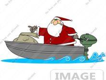 220x165 Santa Fishing Clipart