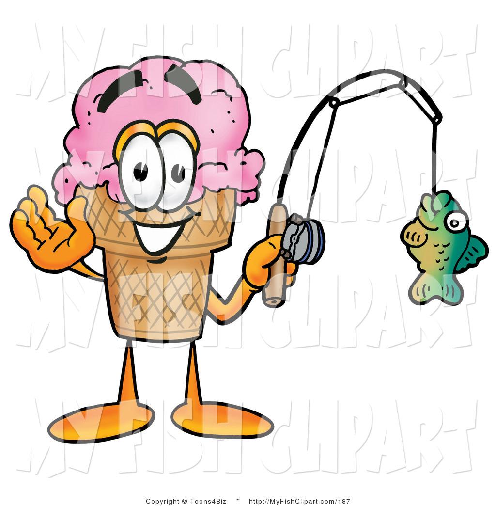 1024x1044 Clip Art Of A Strawberry Ice Cream Cone Mascot Cartoon Character