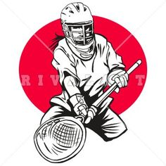 236x236 Sports Clipart Image Of Woman Womens Girls Lacrosse Player Graphic