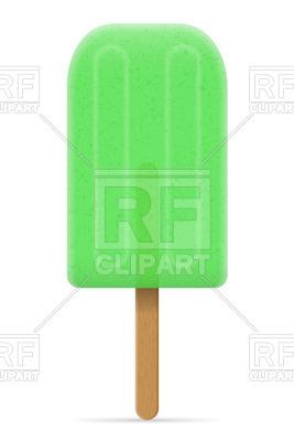 267x400 Green Ice Cream Frozen Juice On Stick Royalty Free Vector Clip Art