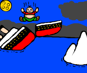 300x250 Iceberg Clipart Hit The Titanic