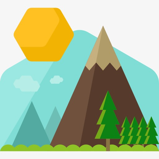 512x512 Mountain, Cartoon, Mountain Peak, Iceberg Png Image And Clipart