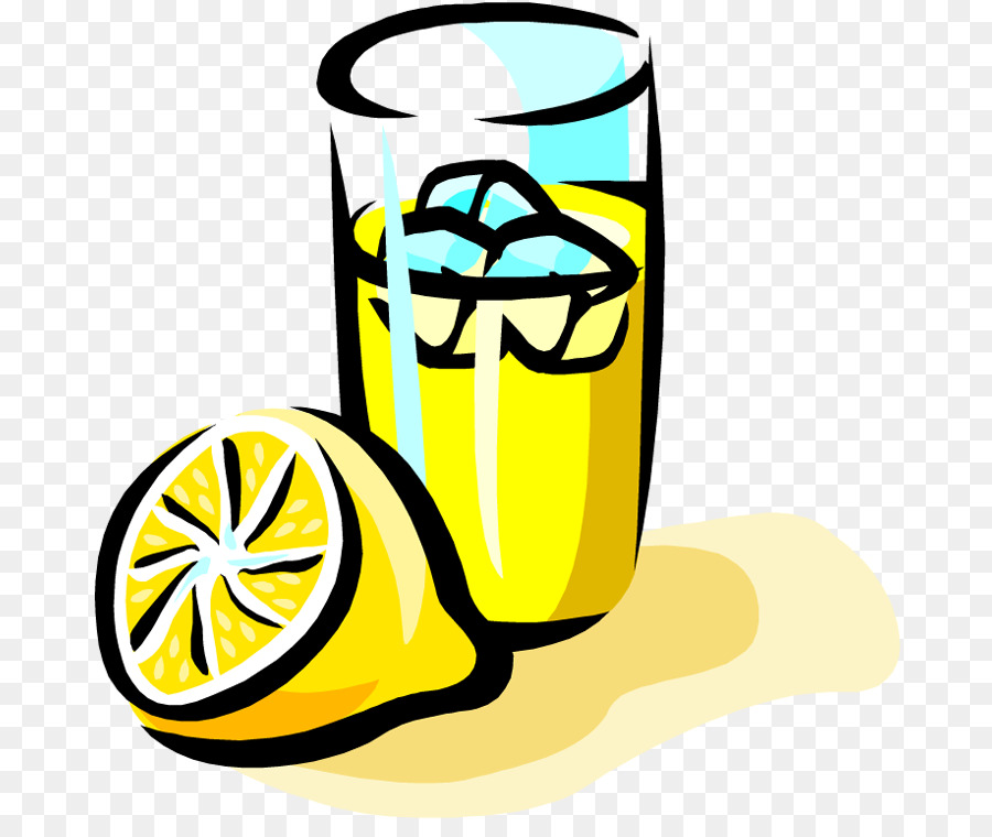 900x760 Lemonade Orange Juice Iced Tea Cartoon Clip Art