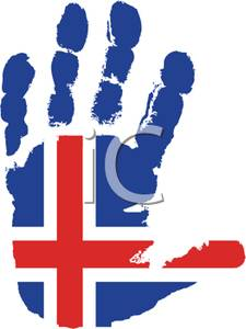 225x300 Flag Of Iceland Handprint