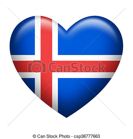 450x470 Iceland Insignia Heart Shape. Heart Shape Of Iceland Flag Stock