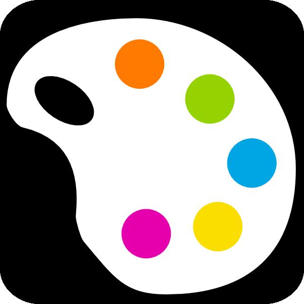 600x600 Color Palette Clip Art Free Vector 4vector