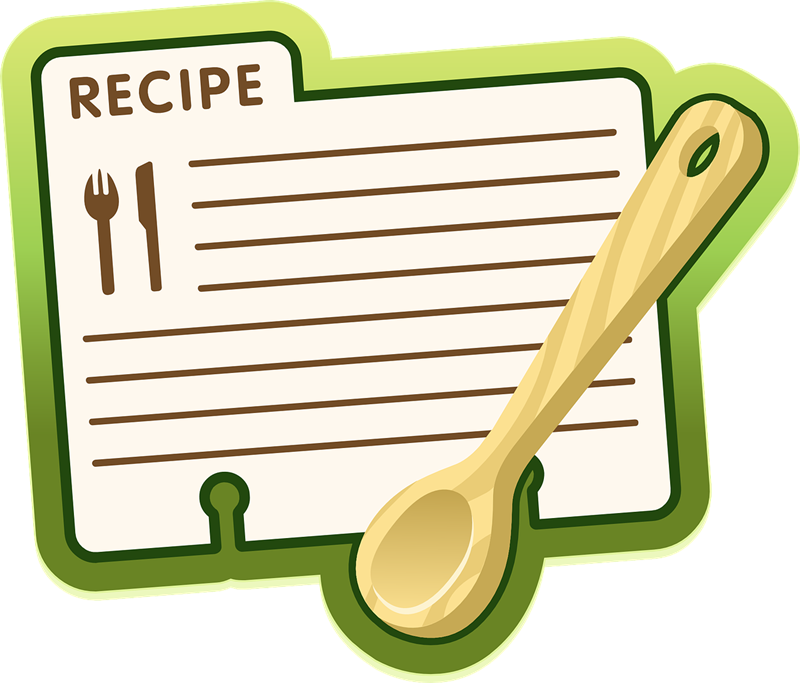 800x683 Free Recipe Sheet Clip Art