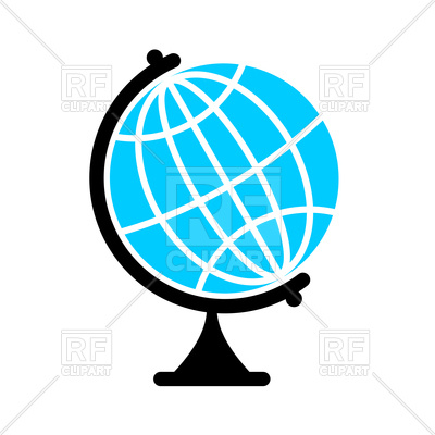 400x400 Icon Of Globe, Earth Ball Royalty Free Vector Clip Art Image