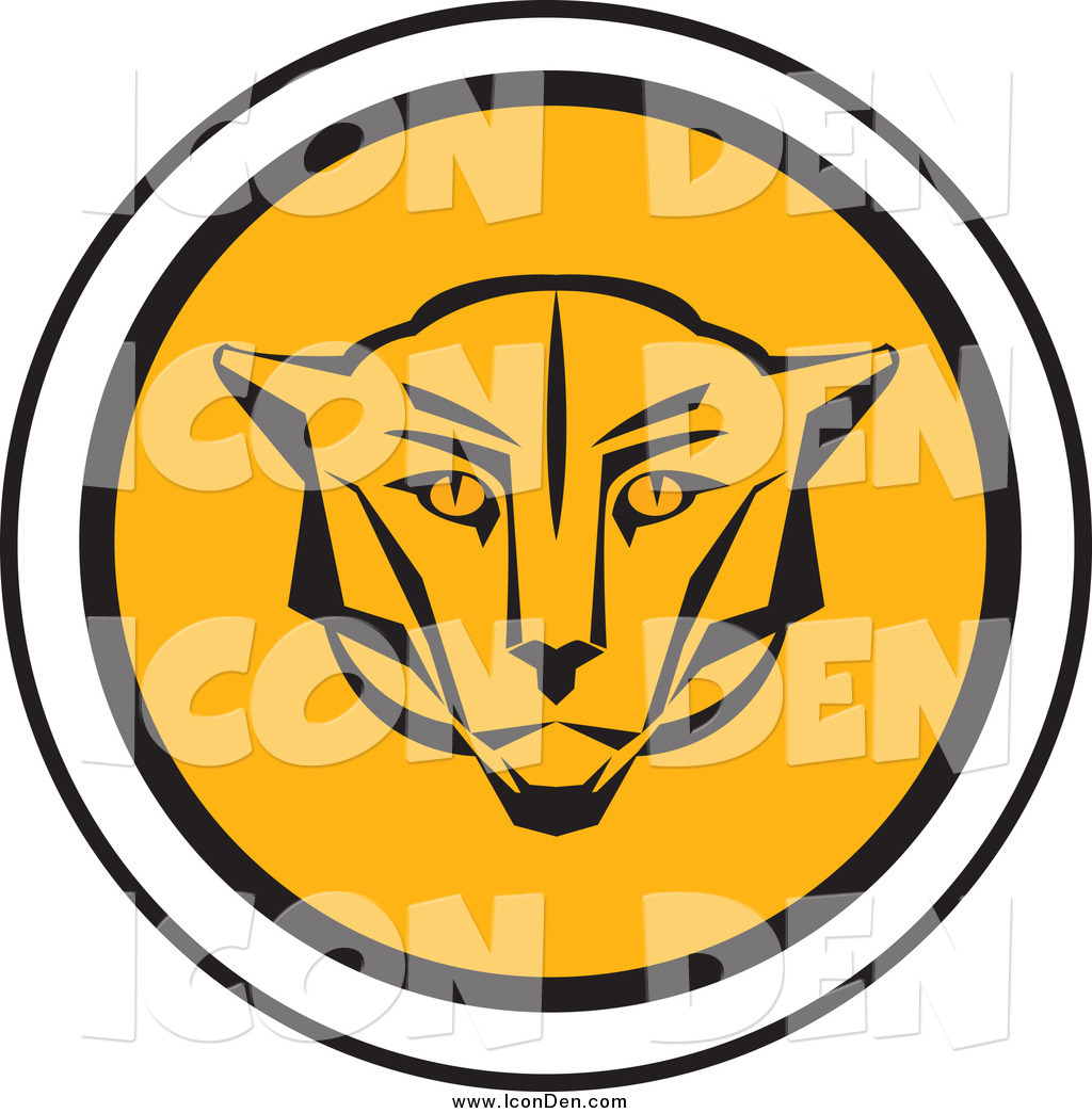 1024x1044 Clip Art Of A Round Cougar Head Icon By Eugene