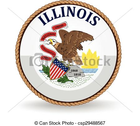 450x404 Illinois State Seal. Seal Of The American State Of Illinois. Clip