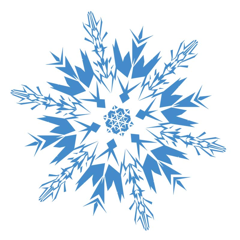 800x800 Snowflake Clip Art Microsoft Free Clipart Images