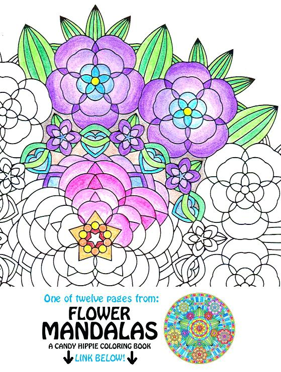559x741 Flower Garden Coloring Page Mandala