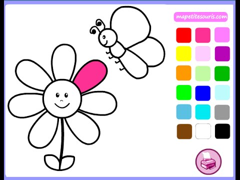 480x360 Free Flower Coloring Pages For Girls