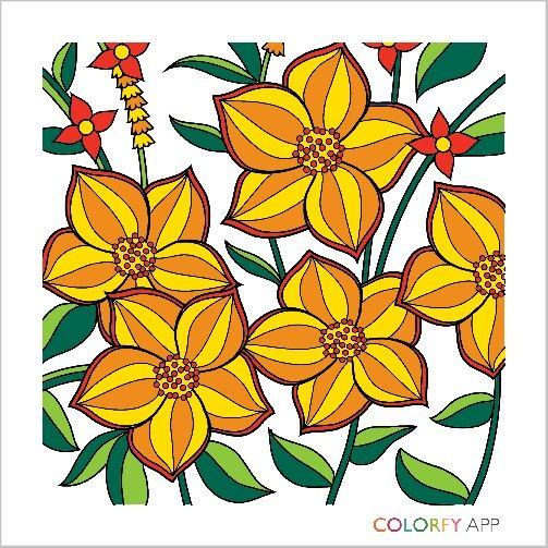 503x503 Orange And Yellow Flowers Susan's Artwork Yellow
