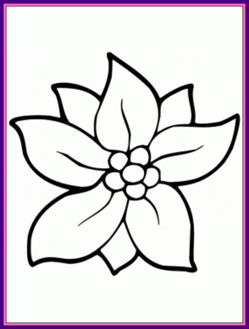 Images Of Flowers Colouring Pages at GetDrawings.com | Free for ...
