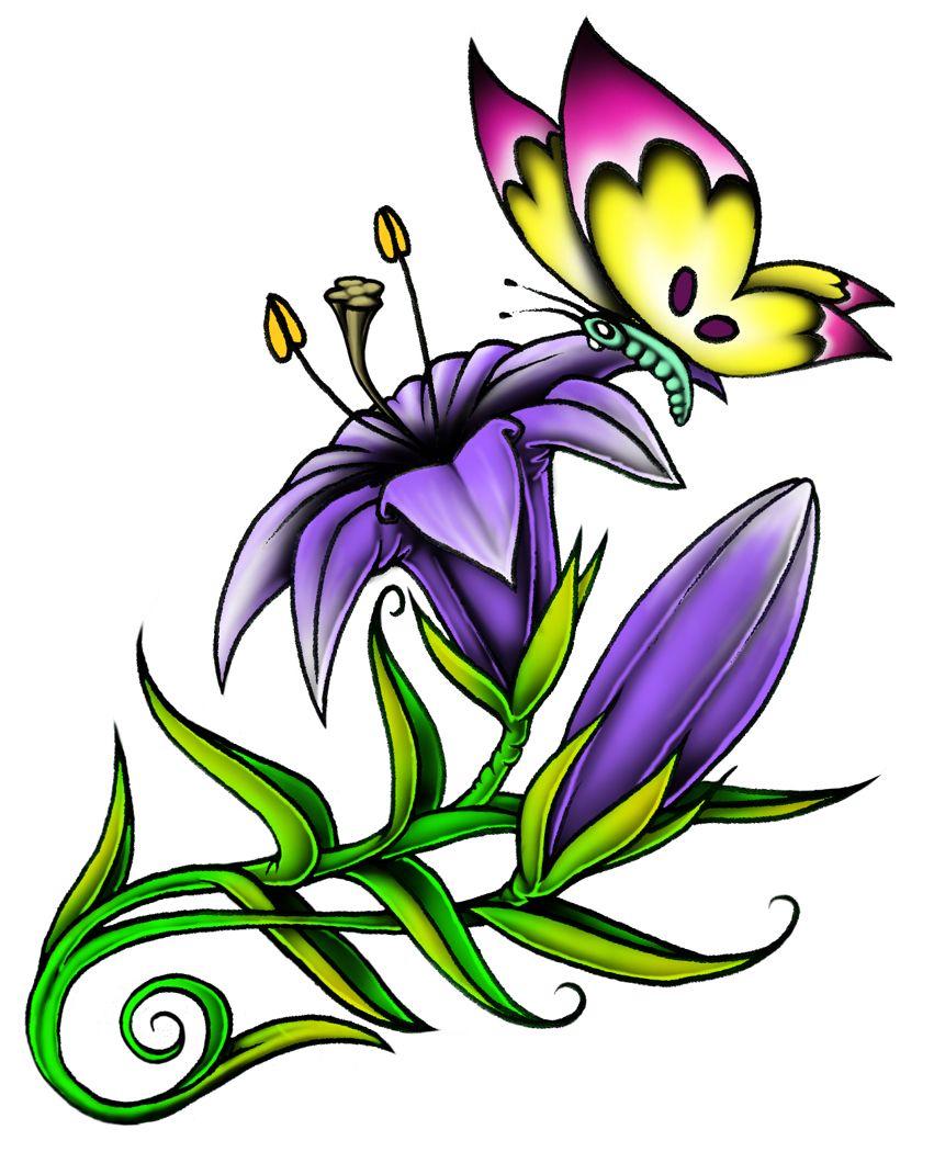 851x1050 Sm Butterfly Flower Gwansoonleetattoo Gwan Soon Lee Tattoos