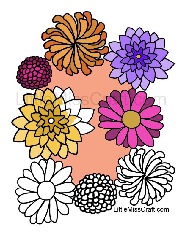 612x792 Wreath Flowers Colouring Pages, Fall Flowers Coloring Pages