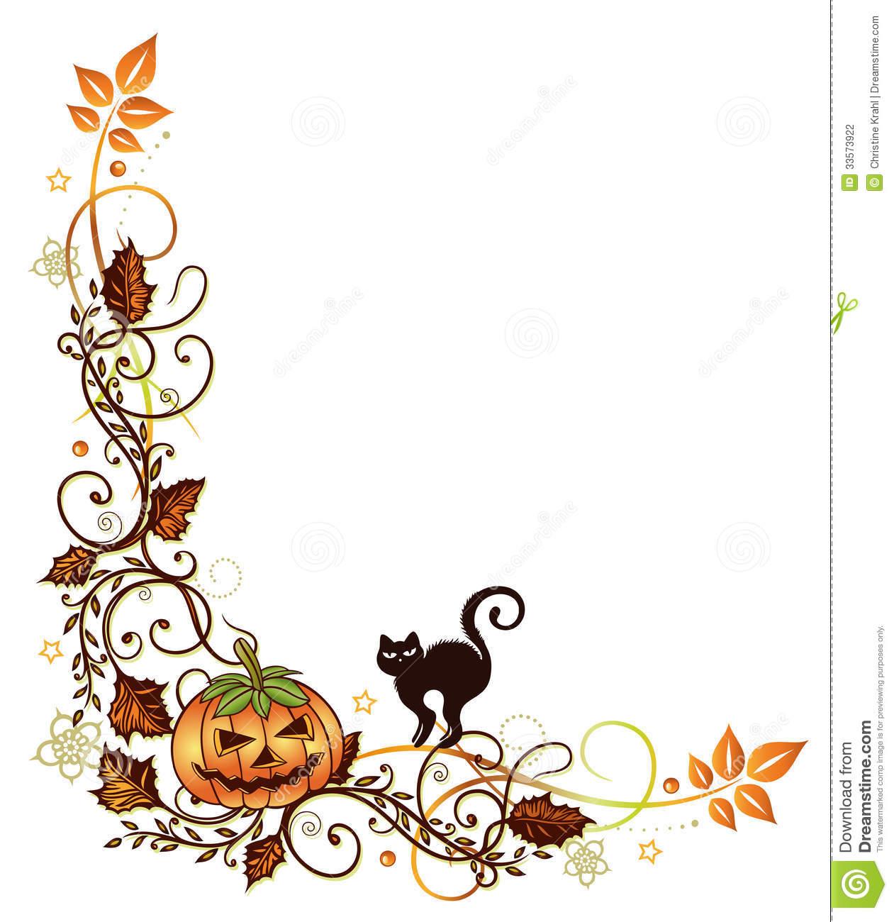 1261x1300 Halloween Clipart Boarder