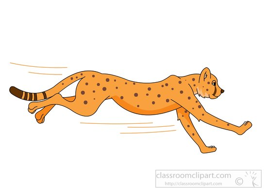 550x399 Cheetah Footprints Clip Art