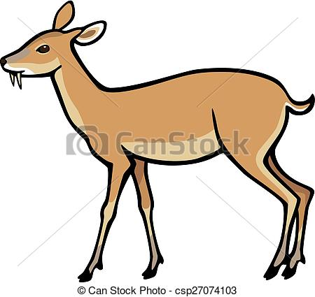 450x425 Chinese Water Deer Vector Clipart Royalty Free. April 2018. 5