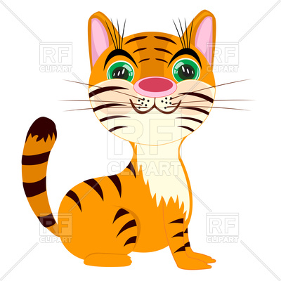 400x400 Cute Cartoon Tigress Royalty Free Vector Clip Art Image