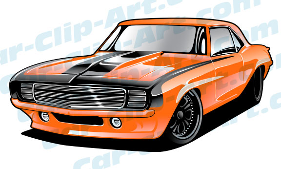 576x346 This 69 Camaro Vector Art File Clipart Panda