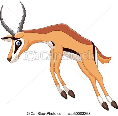 450x443 Vector Illustration Of Cartoon Antelope Jumping Clip Art Vector