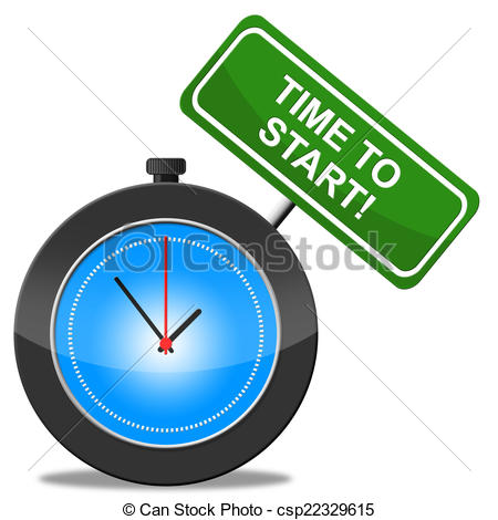 450x470 Time To Start Represents Act Now And Begin. Time To Start