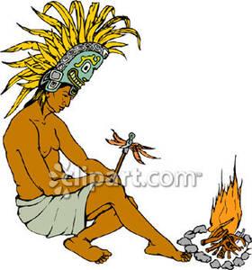 280x300 Ancient Indian Maya Or Inca Wearing A Ceremonial Headdress
