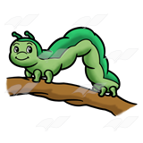 160x160 Abeka Clip Art Inchworm On Branch