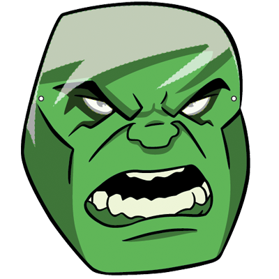 400x400 Face Mask Incredible Hulk Clipart Panda
