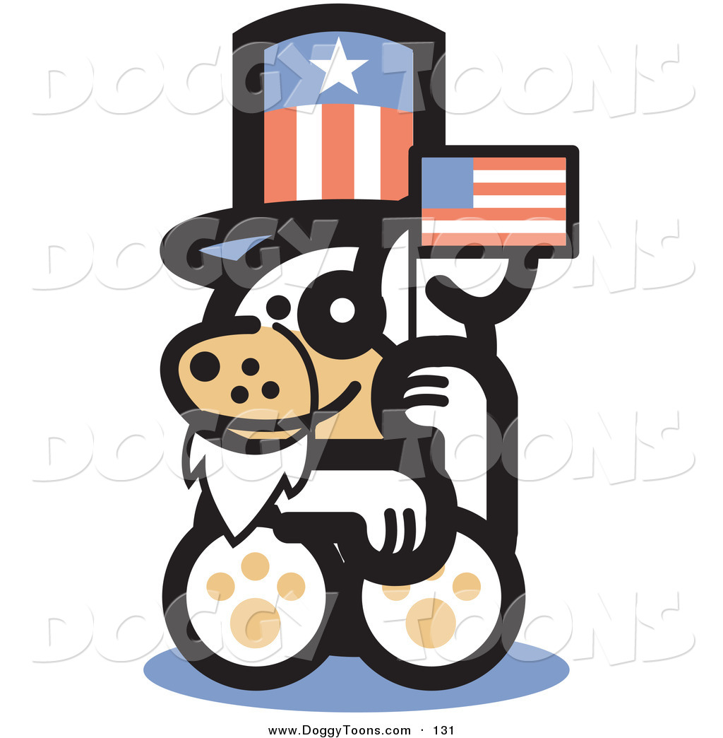 1024x1044 Doggy Clipart Of A Cute White Puppy Dog Disguised As Uncle Sam