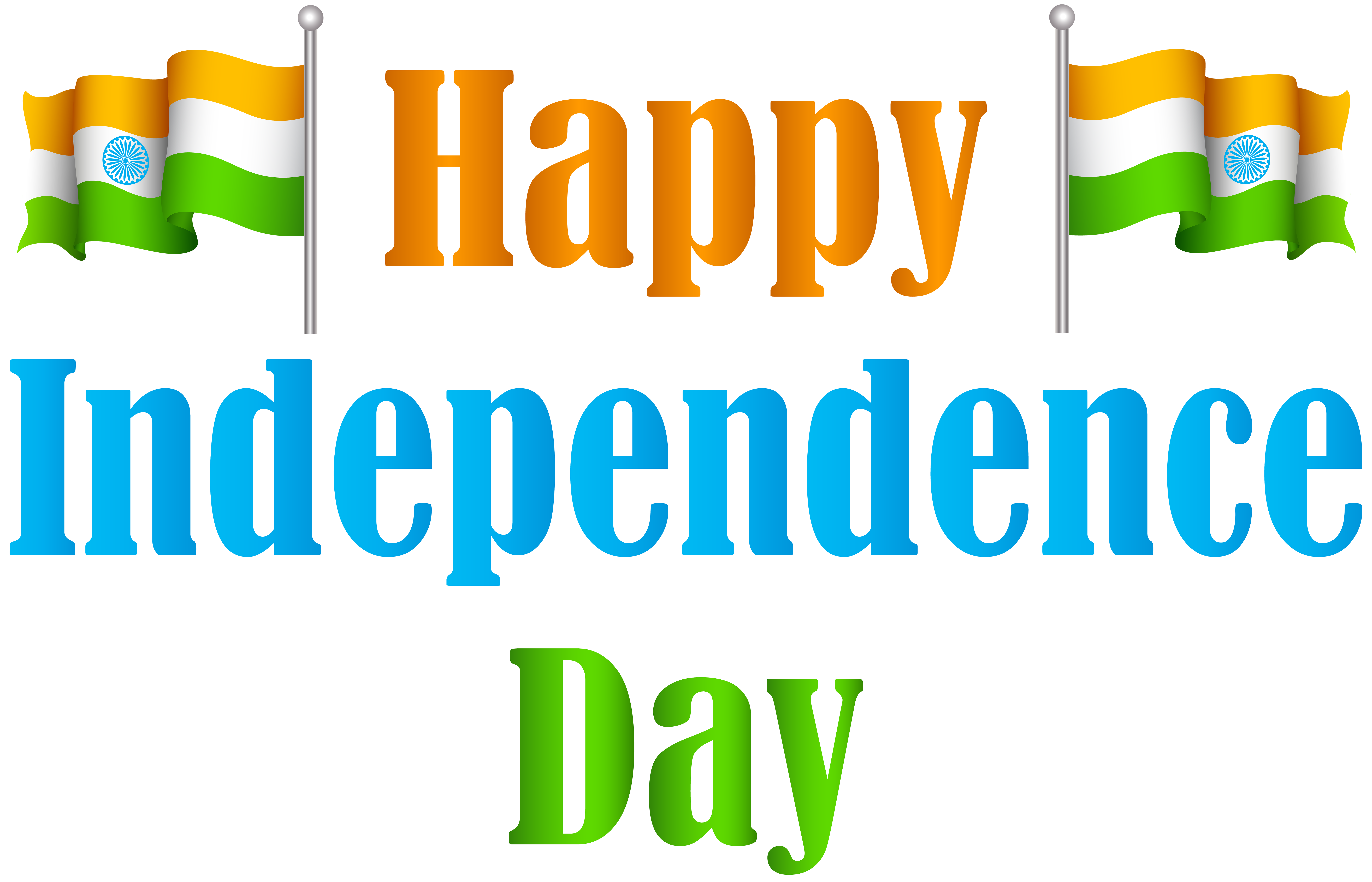 8000x5146 India Happy Independence Day Transparent Png Clip Art Image